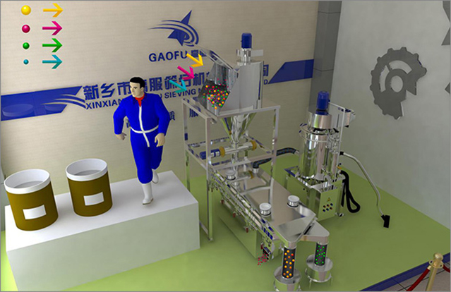 Medicine powder sieving machine