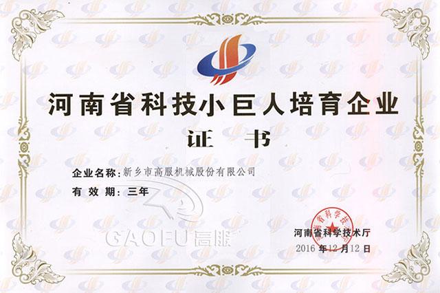 河南省科技小巨人