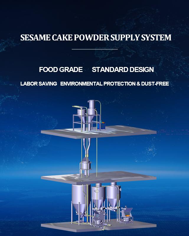 Sesame cake powder supply system